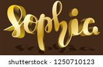 sophia woman's name gold shadow ... | Shutterstock .eps vector #1250710123