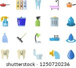 color flat icon set toilet flat ... | Shutterstock .eps vector #1250720236
