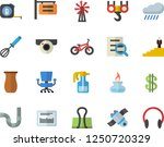 color flat icon set hook flat... | Shutterstock .eps vector #1250720329