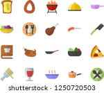 color flat icon set frying pan...   Shutterstock .eps vector #1250720503