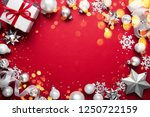 merry christmas background and... | Shutterstock . vector #1250722159