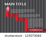 paper folding vector layout... | Shutterstock .eps vector #125073083