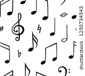 music note seamless pattern.... | Shutterstock .eps vector #1250734543