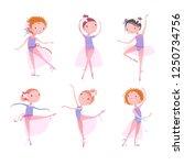 set of ballet dancers. vector... | Shutterstock .eps vector #1250734756