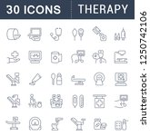 set of vector line icons of... | Shutterstock .eps vector #1250742106