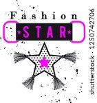 slogan tassel fashion star... | Shutterstock .eps vector #1250742706