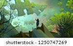 2d illustration. abstract...   Shutterstock . vector #1250747269