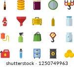 color flat icon set hook flat... | Shutterstock .eps vector #1250749963
