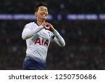 son heung min of tottenham... | Shutterstock . vector #1250750686