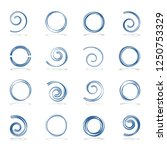 spiral and circle shapes.... | Shutterstock .eps vector #1250753329