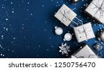 merry christmas background and... | Shutterstock . vector #1250756470