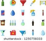 color flat icon set lemonade... | Shutterstock .eps vector #1250758333