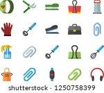 color flat icon set apron flat... | Shutterstock .eps vector #1250758399
