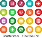round color solid flat icon set ...