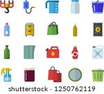 color flat icon set hook flat... | Shutterstock .eps vector #1250762119