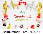 merry christmas and happy new... | Shutterstock . vector #1250763070