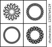 design elements set. geometric... | Shutterstock .eps vector #1250764129