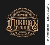 musician vintage logo | Shutterstock .eps vector #1250766049
