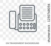 fax icon. fax design concept... | Shutterstock .eps vector #1250768056