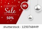 christmas sale  discount banner ... | Shutterstock .eps vector #1250768449