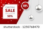 christmas sale  discount banner ... | Shutterstock .eps vector #1250768470