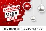christmas sale  discount banner ... | Shutterstock .eps vector #1250768473