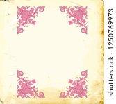 retro baroque decorations... | Shutterstock .eps vector #1250769973