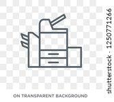 copier icon. trendy flat vector ... | Shutterstock .eps vector #1250771266