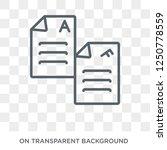 exam icon. trendy flat vector... | Shutterstock .eps vector #1250778559