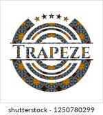 trapeze arabic badge background.... | Shutterstock .eps vector #1250780299