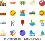 color flat icon set cake flat... | Shutterstock .eps vector #1250784289