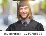 young handsome graduated man... | Shutterstock . vector #1250785876
