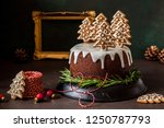 Gingerbread Cake Decorated With ...