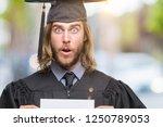 young handsome graduate man... | Shutterstock . vector #1250789053