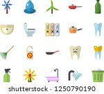 color flat icon set sink flat... | Shutterstock .eps vector #1250790190