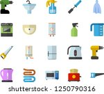 color flat icon set drill... | Shutterstock .eps vector #1250790316