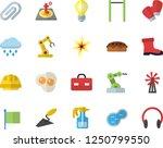 color flat icon set trowel flat ... | Shutterstock .eps vector #1250799550