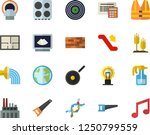 color flat icon set brick wall... | Shutterstock .eps vector #1250799559