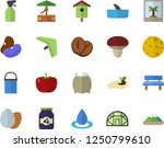 color flat icon set hiking pot... | Shutterstock .eps vector #1250799610