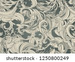 beautiful ornate flower... | Shutterstock .eps vector #1250800249