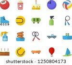 color flat icon set cake flat... | Shutterstock .eps vector #1250804173