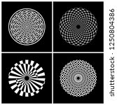 abstract circle rotation design ... | Shutterstock .eps vector #1250804386