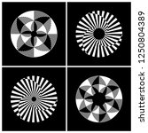 abstract circle rotation design ... | Shutterstock .eps vector #1250804389