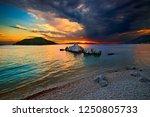 skopelos island  northern... | Shutterstock . vector #1250805733