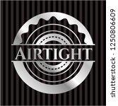 airtight silver emblem | Shutterstock .eps vector #1250806609