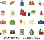 color flat icon set spaghetti... | Shutterstock .eps vector #1250807629