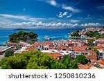 skiathos island  northern... | Shutterstock . vector #1250810236