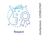 respect concept icon. quality... | Shutterstock .eps vector #1250812969