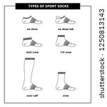 types of sport socks set. no...   Shutterstock .eps vector #1250813143