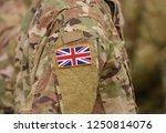 flag of united kingdom on... | Shutterstock . vector #1250814076